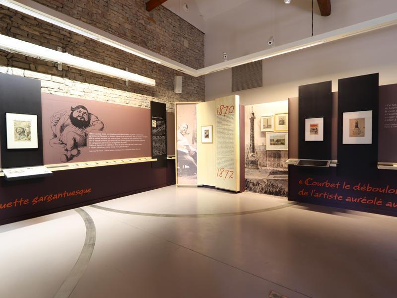 Courbet caricaturé… De la barbe aux sabots : Visuel de l'exposition Courbet caricaturé… De la barbe aux sabots à la Ferme Courbet