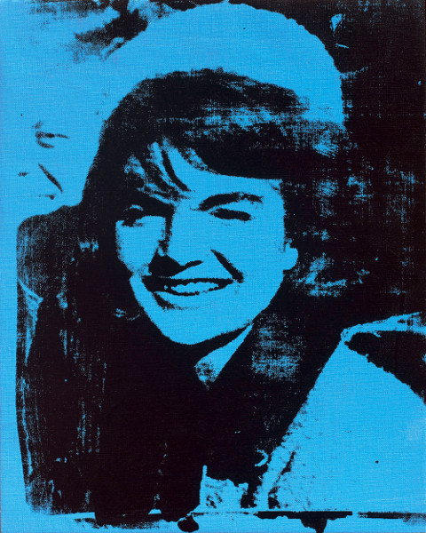 Visages : Andy WARHOL  Jackie  1964  Encre sérigraphique et acrylique sur toile  50, 8 x 40,6 cm    Musée de Grenoble  © muse de Grenoble/ The Andy Warhol Foundation for the visual arts inc. / Adagp, Paris 2014