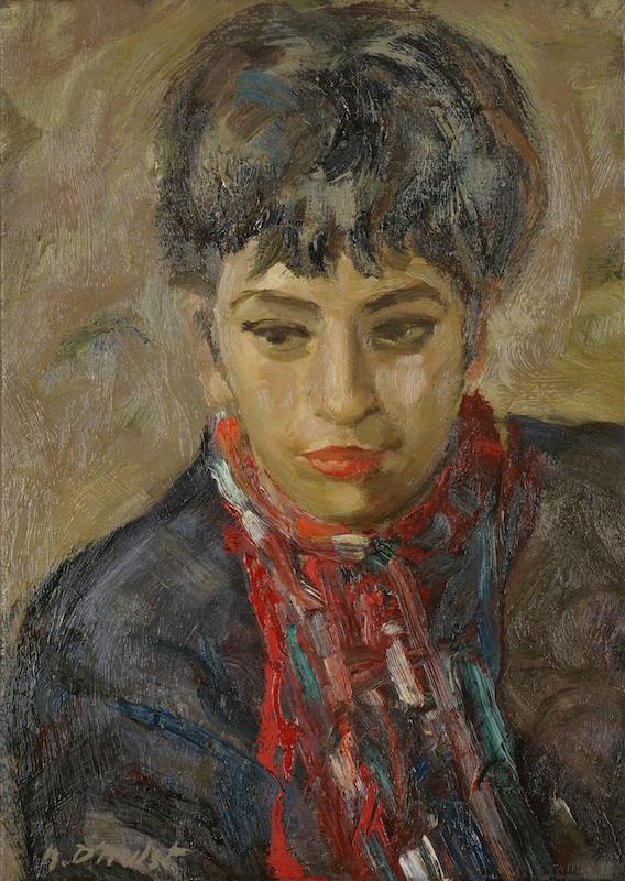 La galerie Dujardin (1905-1980) – L'art au XXe siècle à Roubaix : Noël D'Hulst, Portrait de Josée Courier, vers 1950. Photo : Alain Leprince M.A.I.A.D. Roubaix