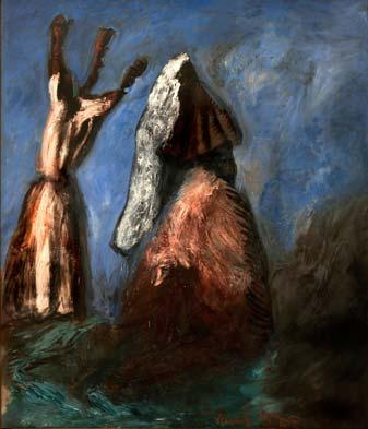 E-motion - collection Bernard Massini : Gérard Garouste, Manto, 1986, Huile sur toile, 235 x 200 cm. Photo Pierre Schwartz © Adagp, Paris 2012 ou 2013