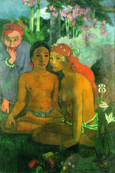 Paul Gauguin : Paul Gauguin. Contes barbares. 1902, huile sur toile, 131 x 90 cm. Museum Folkwang, Essen