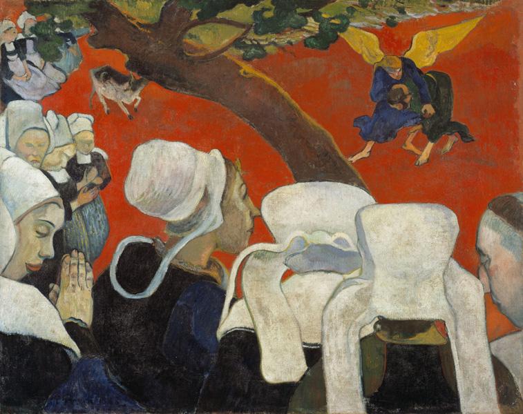 Paul Gauguin : Paul Gauguin. La vision du sermon. 1888, huile sur toile, 72 x 91 cm. Scotch National Gallery, Edimbourg