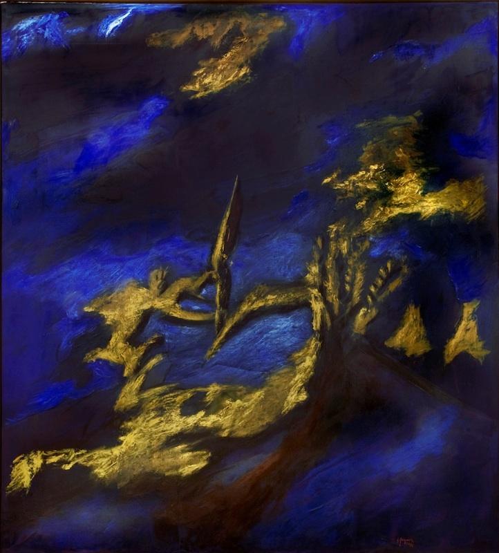 Gérard Garouste : Sans titre, 1990-1991, huile sur toile, 300 x 270 cm. Collection Bernard Macini, Nice