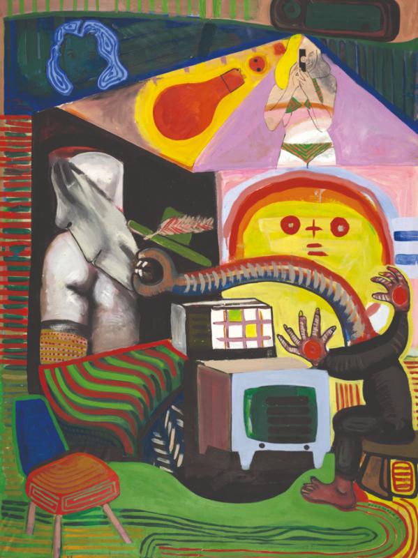 Figurez-vous… Adami, Erró, Guyomard, Klasen. : Gerard Guyomard-Tele-1964 © Cristel Editeur d'Art - Emilie Hautier