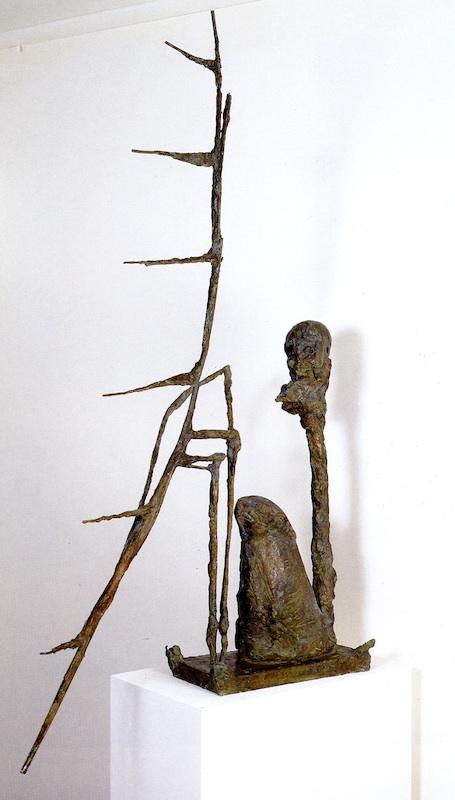 Gérard Garouste : Ange gardien, 1990-1991, bronze, 110 x 65 x 40 cm. Collection particulière de l'artiste © Adam Rzepka