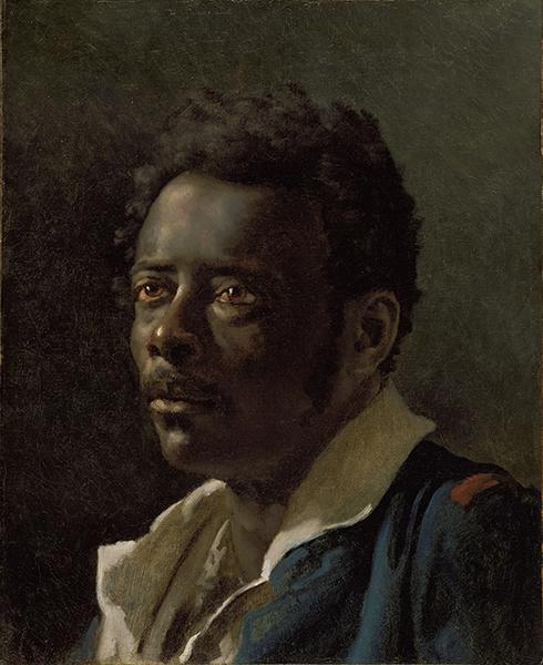 Le Modèle noir deGéricault àMatisse : Théodore Géricault. Étude d'homme, d'après le modèle Joseph, vers 1818-1819 Huile sur toile, 47 × 38,7 cm © J. Paul Getty Museum Los Angeles