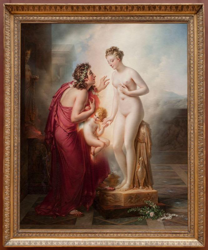 Girodet face à Géricault ou la bataille romantique du Salon de 1819 : Anne-Louis Girodet Trioson. Pygmalion et Galate?e. 1819, huile sur toile, 253 x 202 cm. Paris, Muse?e du Louvre