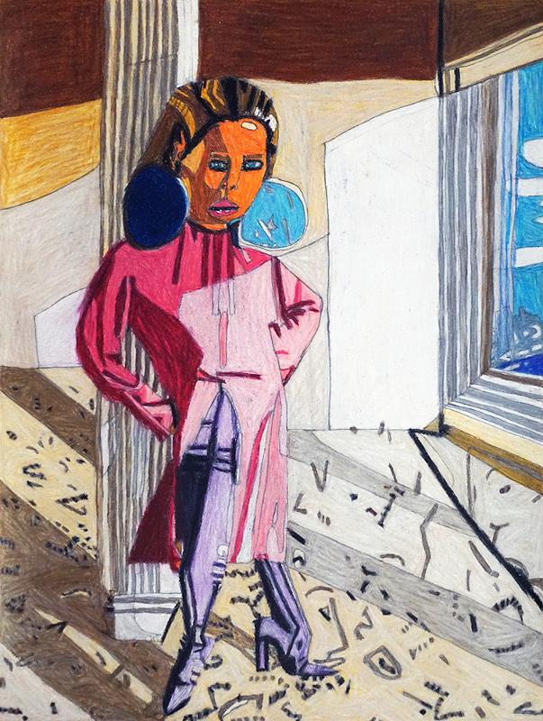 Helen Rae et les lauréates du Prix Art Absolument pour l'Outsider Art 2019 : Helen Rae. February 6, 2018. 2018, crayon de couleur et graphite sur papier, 61 x 46 cm.