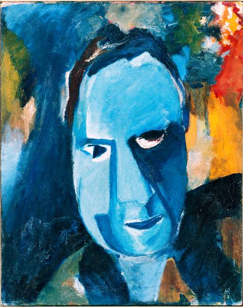 Hans Richter. La Traversée des siècles : Hans Richter, Blauer Mann [Homme bleu], 1917, © Hans Richter Estate