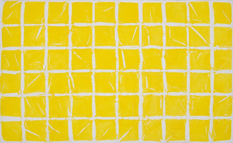 Simon Hantaï. Regards sur quelques Tabulas : Tabula, 1980 acrylique sur toile 301 x 489 cm. Courtesy galerie Jean Fournier, Paris
