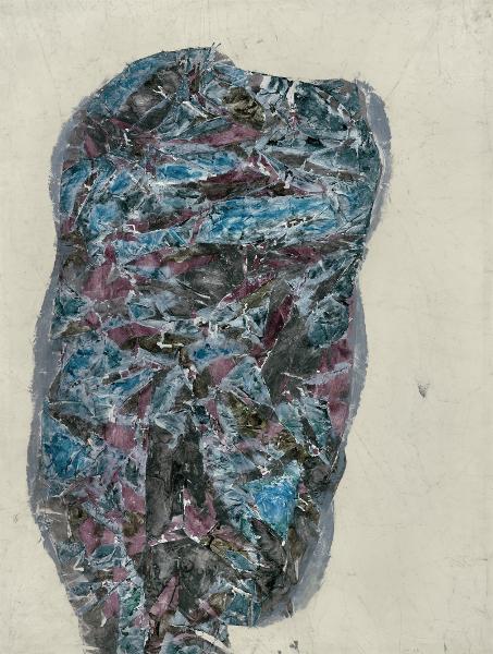 Simon Hantaï – Panses 1964-1965 : Simon Hantaï, Panse, 1964, huile sur toile, 138 x 105 cm, courtesy galerie Jean Fournier, crédit photographique : Laurent Lecat