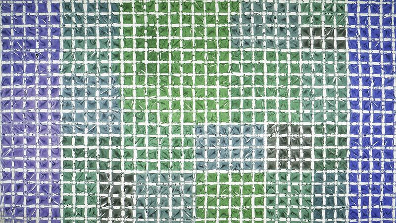 Simon Hantaï. Regards sur quelques Tabulas : Tabula, 1976 acrylique sur toile 262,5 x 462 cm. Courtesy galerie Jean Fournier, Paris