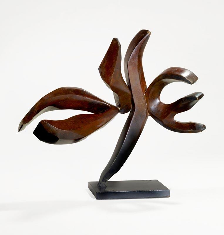 Hedva Ser, Au fil de la sculpture. Sculpture et bijoux : Shalom, 1998, 8 épreuves numérotées en bronze, 9,5 x 27 x 22 cm