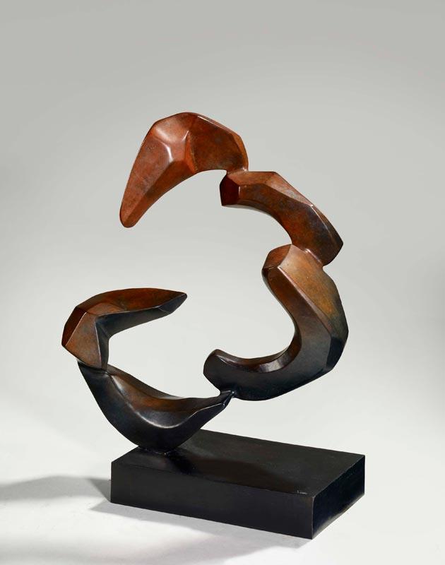 Hedva Ser, Au fil de la sculpture. Sculpture et bijoux : Vague / Wave, 1997, 8 épreuves numerotées en bronze, 25 x 16 x 43 cm