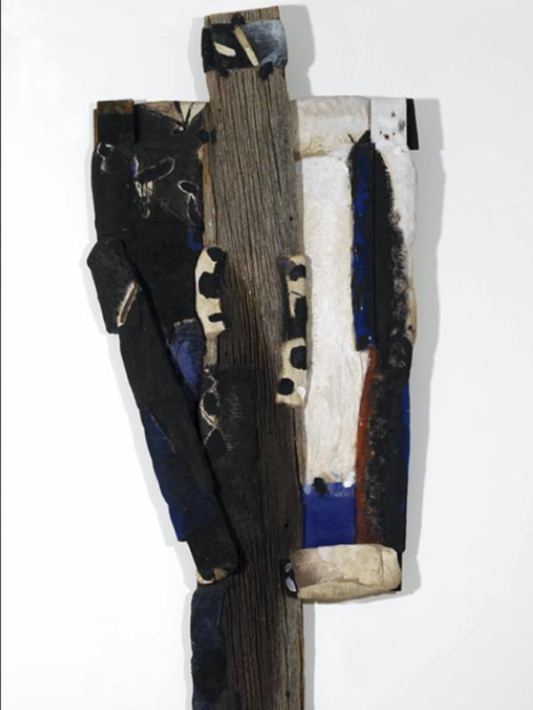La Collection sort de sa Réserve ! - Exposition Collective : Serge Hélénon, Grand Bwa Vlopé, Technique mixte, 201 x 80 cm, 1998