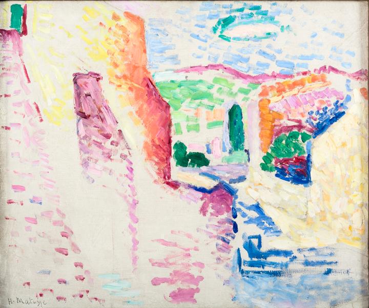 Henri Edmond Cross et le néo-impressionnisme. De Seurat à Matisse : Henri Matisse, Collioure, rue du Soleil, été 1905 – Huile sur toile – 46 x 55 cm Musée départemental Matisse, Le Cateau-Cambrésis © Succession Henri Matisse / Photo Philip Bernard