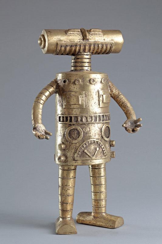 Hervé Di Rosa – « Détours du monde, 1998 -2011 » : Hervé Di Rosa, robot tête tube, 2008, 35,5x19,5x13cm, pièce unique, courtesy Galerie Louis Carré&Cie