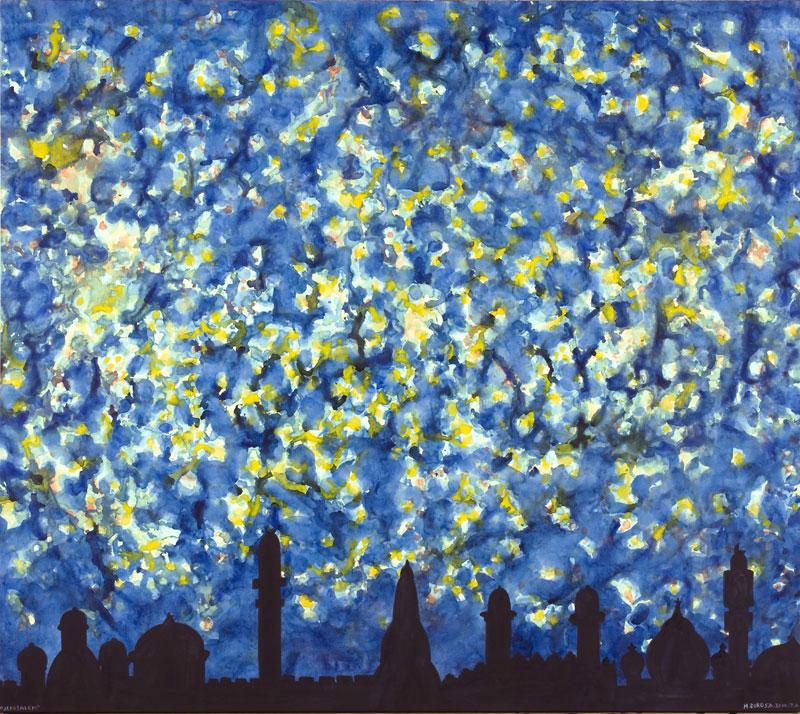 Hervé Di Rosa – « Détours du monde, 1998 -2011 » : Hervé di Rosa, Jérusalem, 2010, acrylique sur toile, 141x160cm, coll.privée, Paris,©Pierre Schwartz