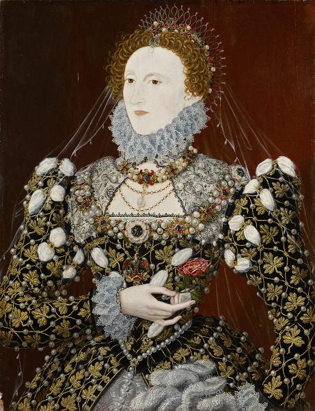 Les Tudors : Associé à Nicholas Hilliard, Elisabeth I dit Le Portrait au phénix. Vers 1575, 78,7 x 61 cm, huile sur bois. Londres, National Portrait Gallery © National Portrait Gallery, Londres, Angleterre