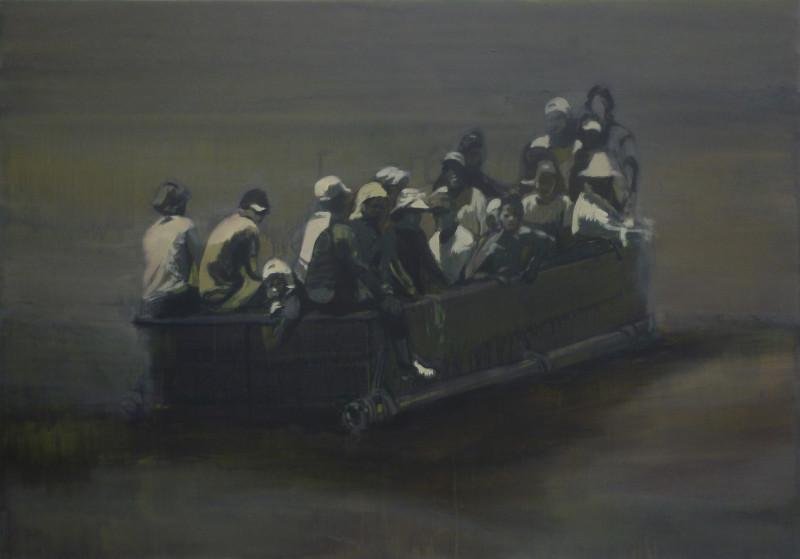 Histoire, histoires en peintures. : Claire Tabouret, Sans titre, 2013, acrylique sur toile, 90 x 130 cm Collection du FDAC de l'Essonne