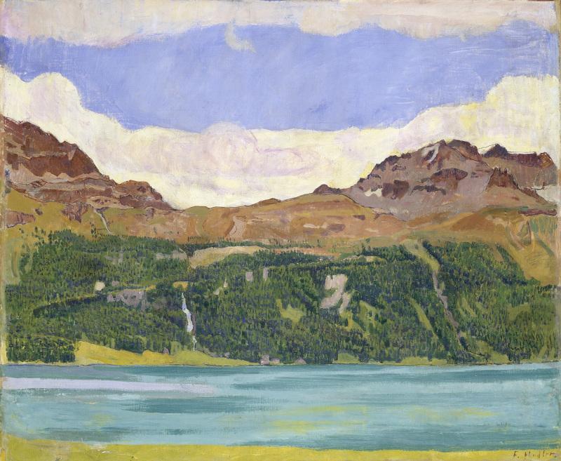 La Montagne fertile. Les Giacometti, Segantini, Amiet, Hodler et leur héritage. : Ferdinand Hodler : Lac de Silvaplana, 1907 © Kunstmuseum, Soleure.