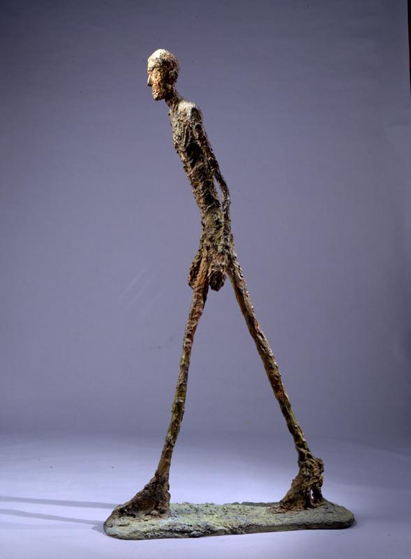 Giacometti et Maeght, 1946 – 1966. : Homme qui marche I, 1960, © Archives Fondation Maeght, C.Germain, © Succession Giacometti, Adagp Paris 2010