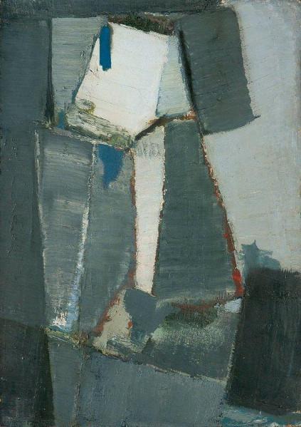 Olivier Debré, signes-personnages, signes-paysages : Olivier Debré, Signe-personnage 1953-1954. Huile sur toile, 132 × 93 cm Collection particulière © Béatrice Hatala