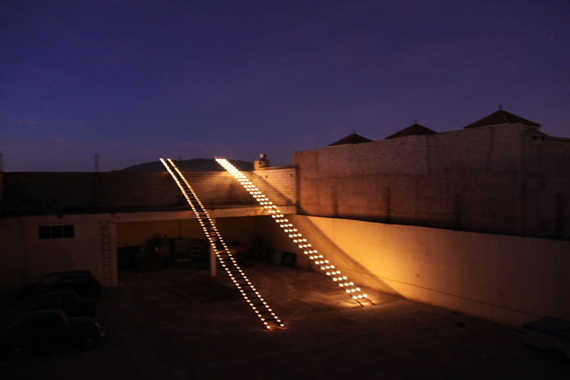 Ninar Esber, - = + : The 2 Ladders, 2009.