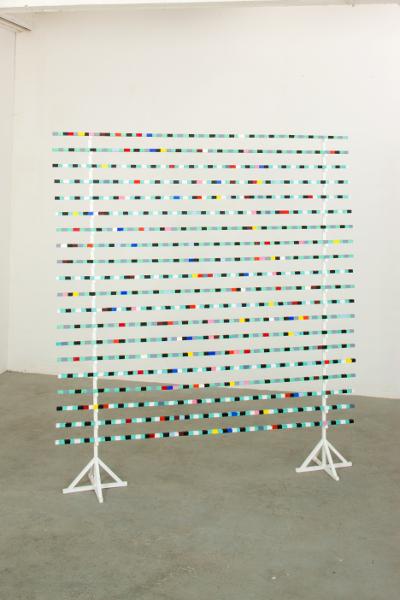 Philippe Richard. Refaire surface : Philippe Richard, Instable 2011, acrylique sur bois, 220 x 200 cm © Photo Marc Plantec