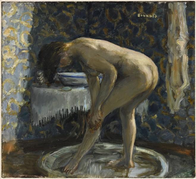 La Toilette, naissance de l'intime : Pierre Bonnard. Nu au tub. 1903, huile sur toile, 44 x 50 cm. Toulouse, Fondation Bernberg © RMN-Grand Palais / Mathieu Rabeau – ADAGP, Paris 2015