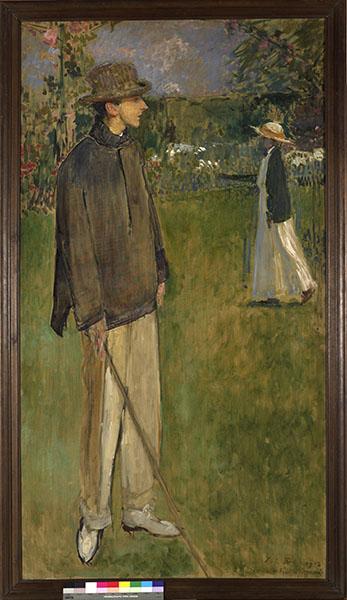 Jacques-Émile Blanche, portraitiste de la Belle Époque. : Jacques-Emile Blanche - Etude pour le portrait en pied de Jean Cocteau -1912. Huile sur toile. 200,5 x 110,5 cm.