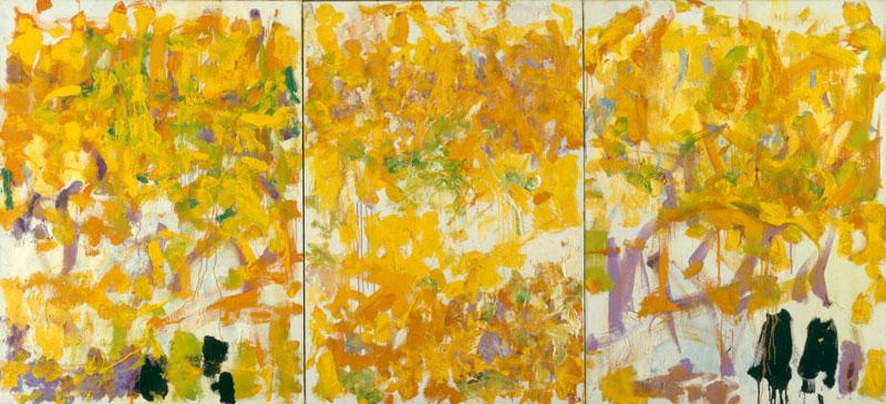 Autre Pareil : Joan Mitchell. Sans titre, 1979, huile sur toile, 130 x 284,5 cm. Collection LAAC, Dunkerque. Photo Jean-Claude Mallevaey © ADAGP, Paris 2011
