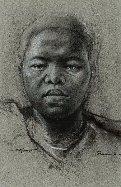 Ernest Pignon-Ernest : Johannesburg, 2002, © Ernest Pignon-Ernest