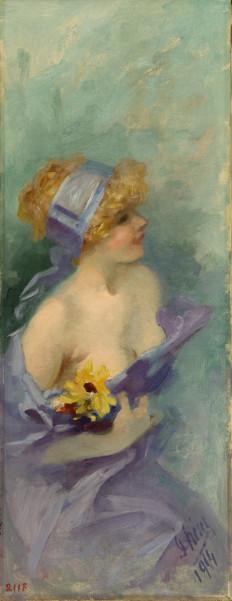 Joseph Vitta - Passion de collection : Jules Chéret, Le Printemps, 1914 Collection Musée des Beaux O Arts,Nice © Ville de Nice, photo Muriel Anssens