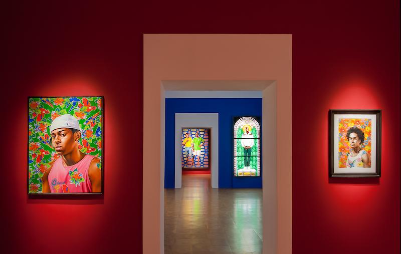 Kehinde Wiley. Peintre de l'épopée : Vue de l'exposition  Kehinde Wiley. Peintre de l'Epopée au Centre d'Art de la Malmaison, Cannes, 2020