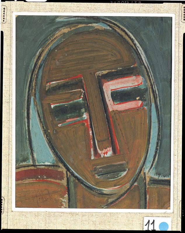 Wifredo Lam. Voyage entre Caraïbes et avant-gardes. : Autoportrait III 1938, © S.D.O. Wifredo Lam  A.D.A.G.P.,  Paris 2010