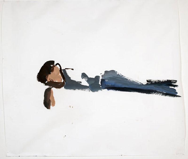 Les nominés du prix Marcel Duchamp : Damien CABANES, Samuel endormi, 2004. Collection Bernard Millet. Photo : DR. © D. Cabanes / Courtesy galerie Éric Dupont, Paris.