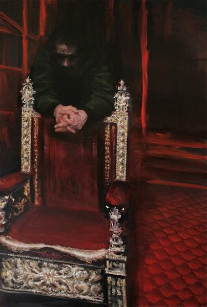 La belle peinture est derrière nous :  Youcef Korichi, Sans titre (le Trône), 2011, 195x130 cm, Collection privée France