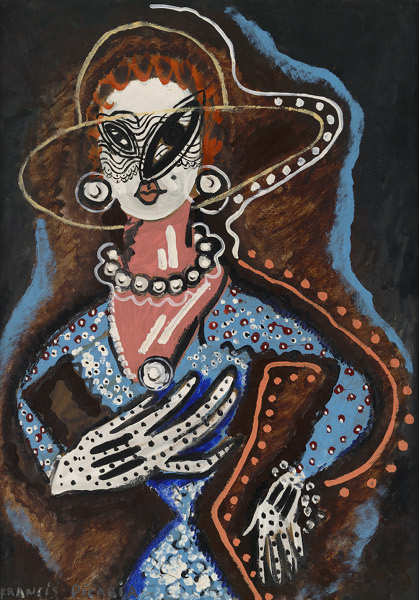 Picasso Picabia - La peinture au défis : Francis Picabia La Femme au monocle Huile, Ripolin et crayon sur carton, 105 x 75 cm Collection particulière © ADAGP, Paris 2018