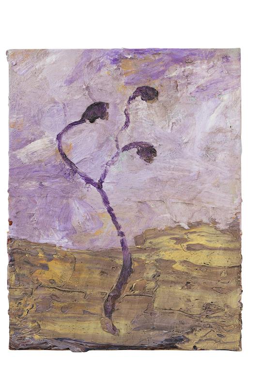 Denis Laget. : Sans titre, 1998, huile sur toile, 35x27 cm, Collection FRAC Auvergne