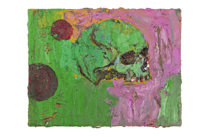 Denis Laget. : Sans titre, 2006, huile sur toile, 27 x 35 cm, Collection Christophe Mélard