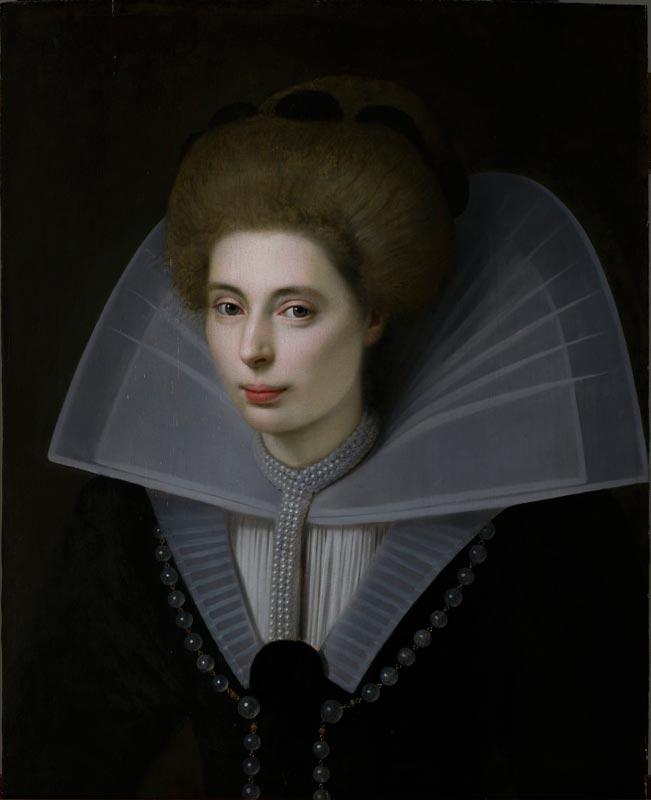 Les territoires du désir ou les métamorphoses d'un musée imaginaire : Anonyme français XVIIe, Portrait d'une jeune femme de la cour, huile sur toile, MuMa Le Havre