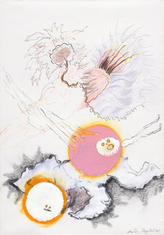 Christian Lhopital -Splendeur et désolation : Lhopital_Horsdelui.jpg Hors de lui 09, 2011 Technique mixte sur papier, 21 x 14,7 cm Courtesy galerie Polaris, Paris, et galerie Domi nostrae, Lyon © ADAGP, Paris, 2013