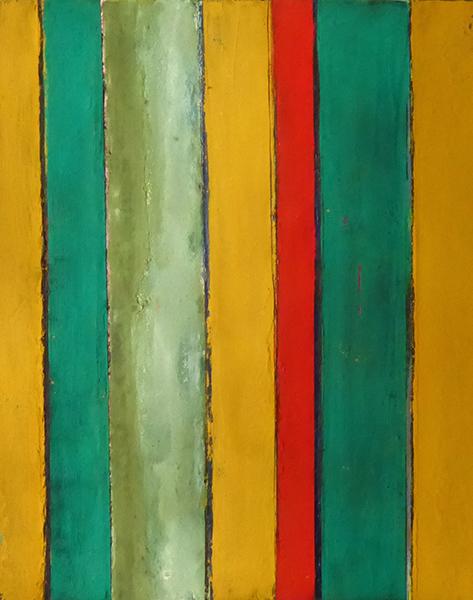 Eugénie Paultre. Lignes entre elles : Sans titre, 2016. Technique mixte sur toile, 35x27 cm.