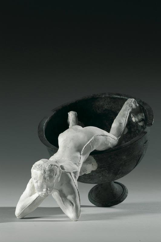 L'invention de l'œuvre, Rodin et les ambassadeurs : Auguste Rodin, Assemblage : Petite faunesse dans une coupe (époque romaine), 1895-1910 ?,  plâtre et bronze, © Musée Rodin - Photo : Christian Baraja