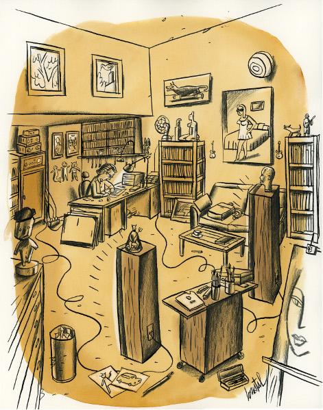 Loustal, un itinéraire en bandes dessinées : Autoportrait