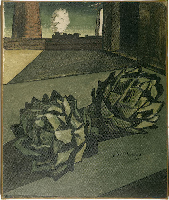 Giorgio De Chirico. La peinture métaphysique : Giorgio de Chirico (1888-1978) Mélancolie d'un après-midi 1913 Huile sur toile 56,7 x 47,5 com Paris, Centre Pompidou - Musée national d'art moderne - Centre de création industrielle Photo © Centre Pompidou, MNAM-CCI, Dist. RMN-Grand Palais / Jean-Claude