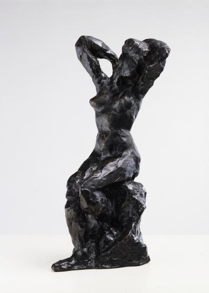 Femmes, muses et modèles : Henri MATISSE - Nu assis, bras sur la tête, Paris, 1904, Bronze à la cire perdue. 34,9 cm, Fondeur : Valsuani © Succession H. Matisse - Photo : François Fernandez