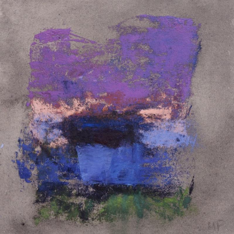 Monique Frydman - « Jubilation » : Monique Frydman - Un automne particulier n14 - encres de gravures et pigments sur toile de coton - 2020 32 x 32 x 4 cm
