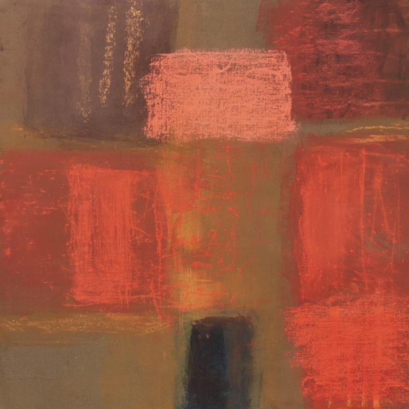 Monique Frydman - « Jubilation » : Monique Frydman - Senantes 18 - pastels secs, pigments et liant sur toile de lin - 1991/2018 - 153 x 169,5 cm